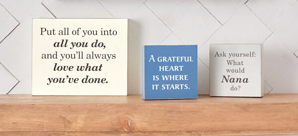 Quote plaques and signs home decor