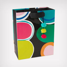 Color circles gift bag