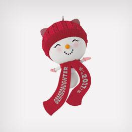 Snowman granddaughter ornament