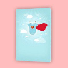 Congratulate the new parents with baby cards from Hallmark.