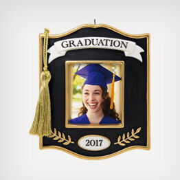 Graduation photo holder ornament