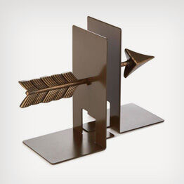 Natural metal arrow bookends