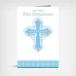"""On Your First Communion"" card"