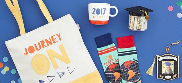 2017 tote, mug, socks, money keeper and ornament