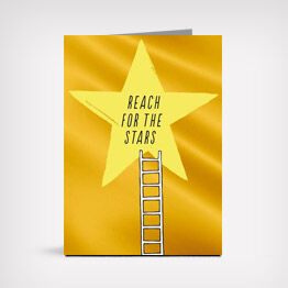 """Reach for the stars"" graduation greeting card"
