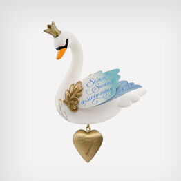 Seven Swans-a-Swimming Twelve Days of Christmas ornament