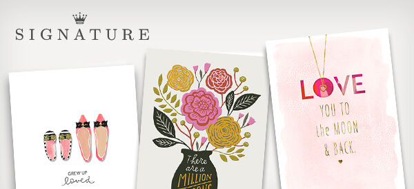 Signature Mother's Day cards