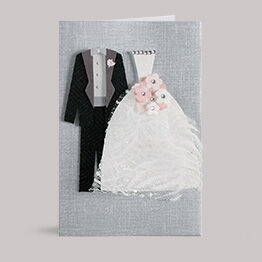 Hallmark Signature Collection cards feature simple sentiments and unique materials.