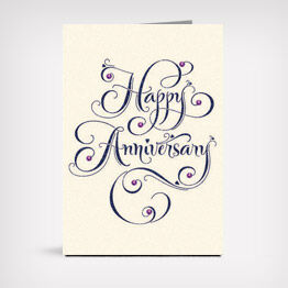 """Happy Anniversary"" laser-design card"