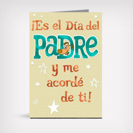 Spanish-language Father's Day card