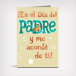 Spanish-language Father's Day card