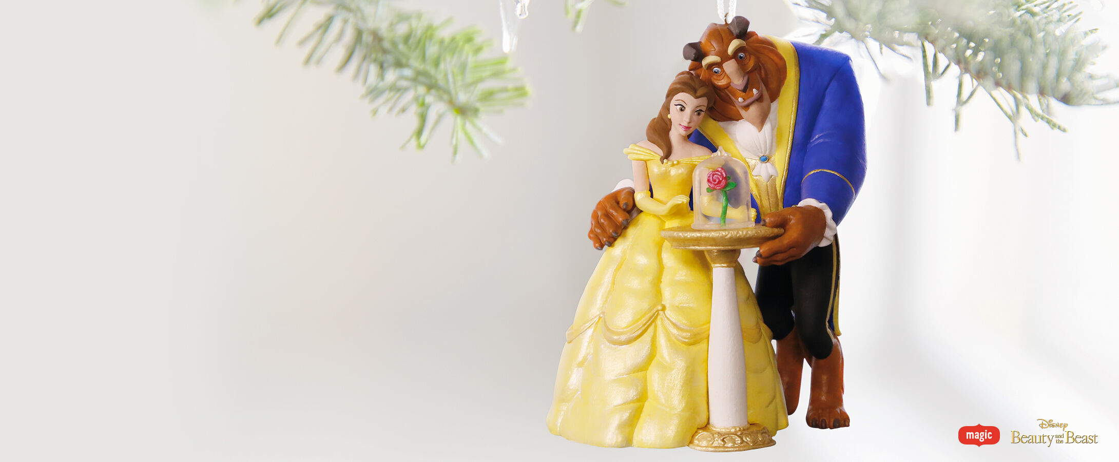 Beauty and the Beast magic Keepsake Ornament
