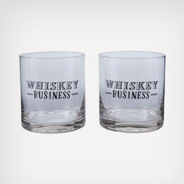 """Whiskey Business"" lowball glasses"