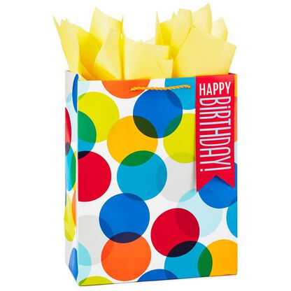 Happy Birthday Dots Large Gift Bag With Tissue 13