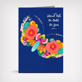 """Stand tall"" butterfly card"