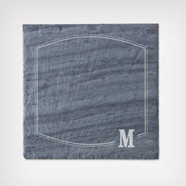 Monogram personalized slate cheese board