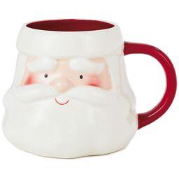 santa mug 17 oz kitchen glittery smiling snowman christmas cards