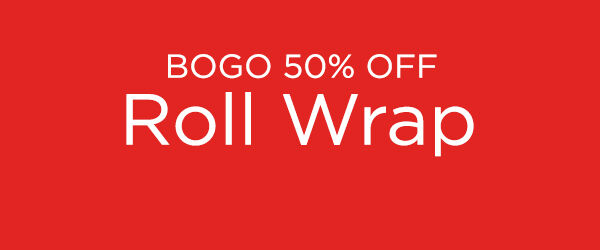Buy one, get one 50% off Hallmark holiday wrapping paper.