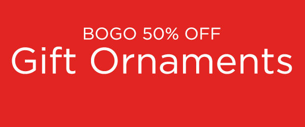 Buy one, get one 50% off Hallmark gift ornaments.