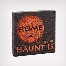 "Halloween ""Home"" rustic wood sign"