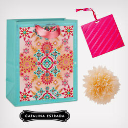 Catalina Estrada patterned gift bag and trim