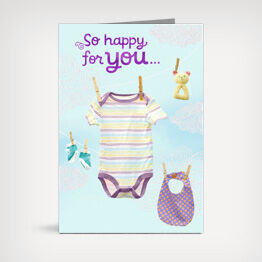 """So happy for you"" baby congrats card"
