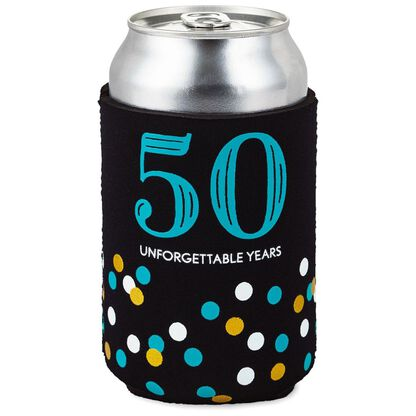 50 Unforgettable Years Fabric Can Cooler