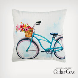 Cedar Cove watercolor pillow