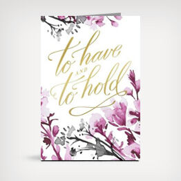 """To have, to hold"" wedding greeting card"