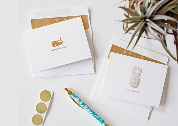 Send thanks with ease and style with these thank-you notes.
