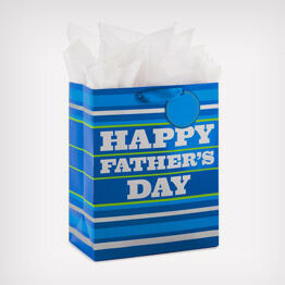 Father's Day striped gift bag