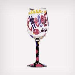 Cheers Lolita® handpainted wine glass
