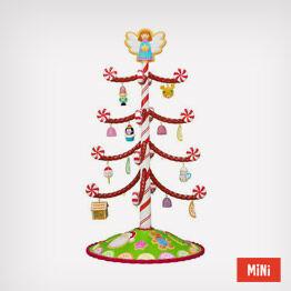 Season's Treatings mini tree with 12 ornaments