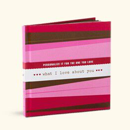 picture of a book called what I love about you