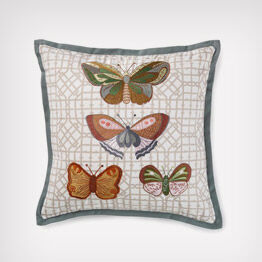 Heritage butterfly pillow