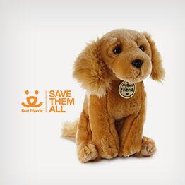Golden Dog large stuffed animal