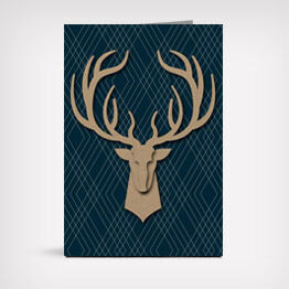 Deer head Signature Father's Day greeting card
