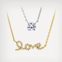 'Love' Necklace Set