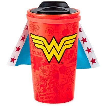 Wonder WomanTM Travel Mug With Removable Cape 10 Oz