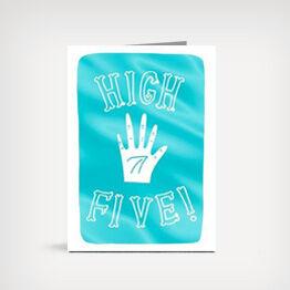 """High Five!"" congrats card"