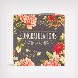 May Happiness Go With You wedding card