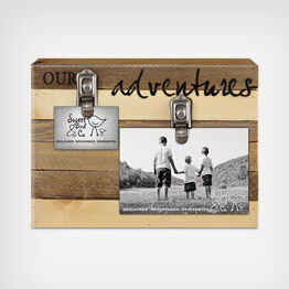 """Our Adventures"" clip picture frame"