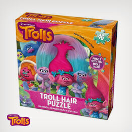 DreamWorks Trolls puzzle with hair