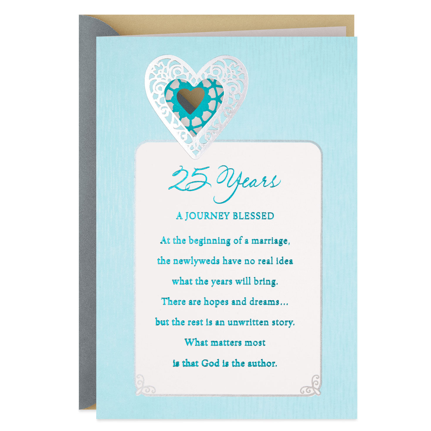 The Blessing of Marriage 25th Anniversary Card - Greeting Cards - Hallmark