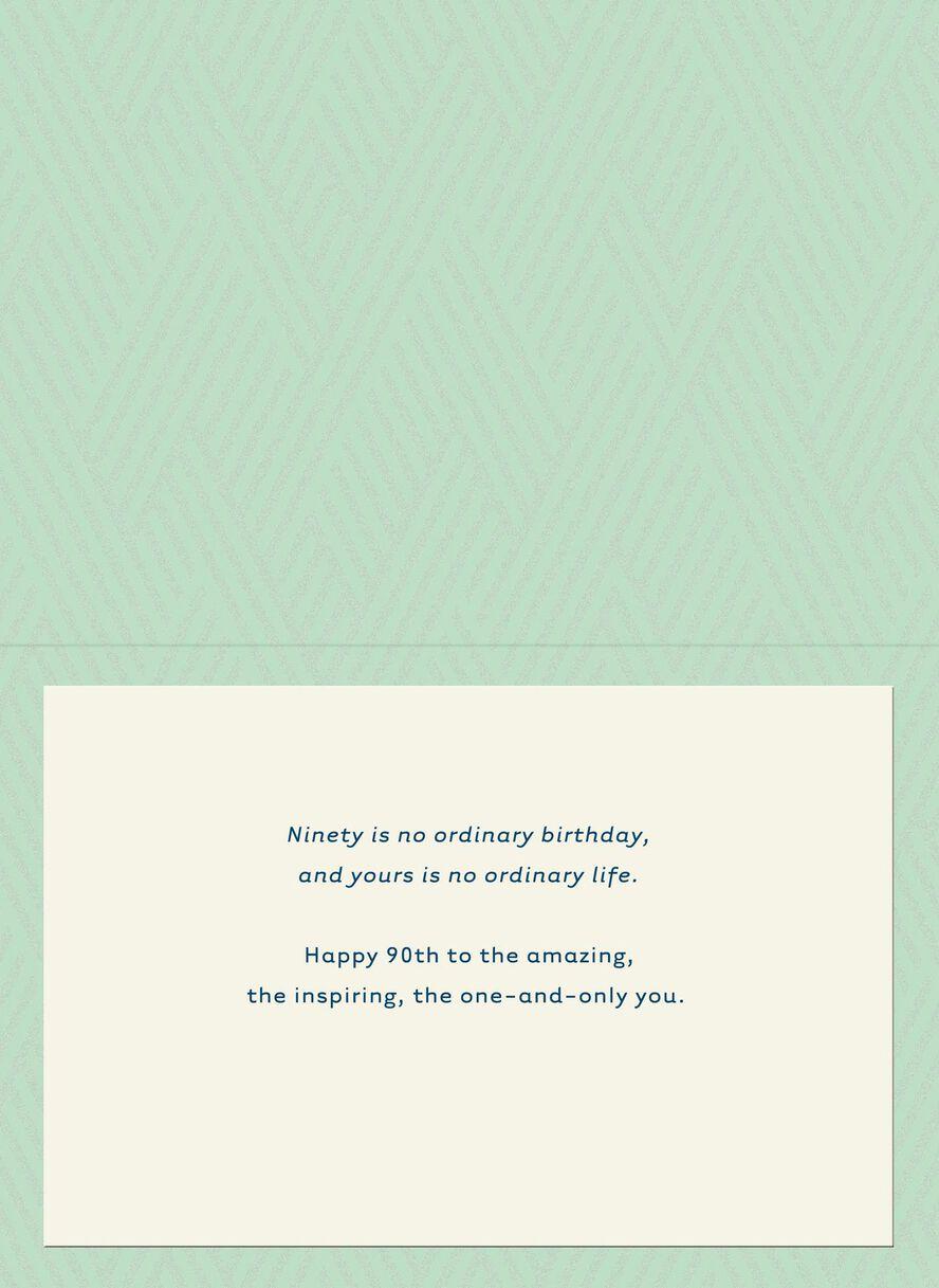 Green And Blue 90th Birthday Card Greeting Cards Hallmark