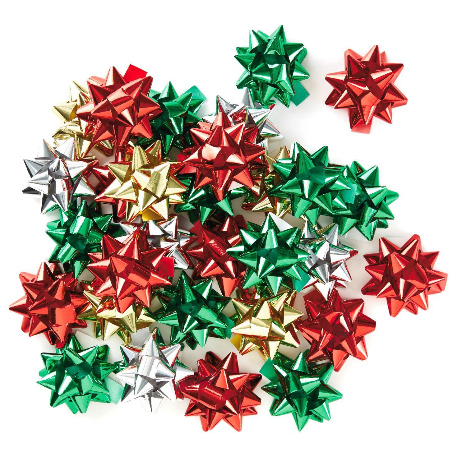 Assorted mini metallic ribbon christmas gift bows pack of 30 bows assorted mini metallic ribbon christmas gift bows pack of 30 bows ribbons hallmark negle Gallery
