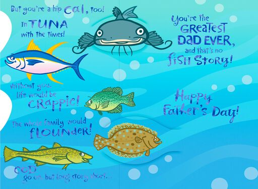 No Fish Story Father's Day Card,
