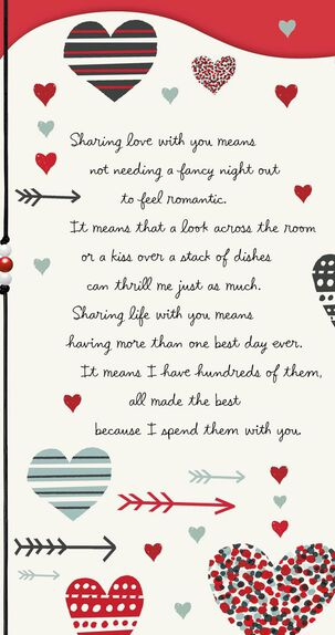 Hearts and Arrows Valentine's Day Card
