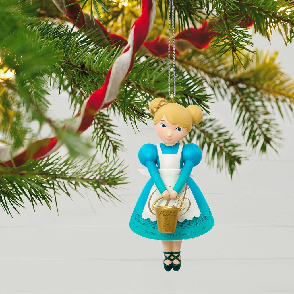 twelve days of christmas eight maids a milking ornament