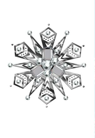 Geometric Snow Gems Christmas Card